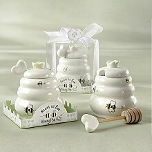 HuaZo Honigtopf für Kinder, aus Keramik, für