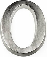 HUBER Hausnummer Nr. 0 Aluminium eloxiert 10 cm,