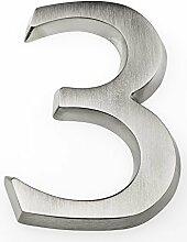 HUBER Hausnummer Nr. 3 Aluminium eloxiert 10 cm,