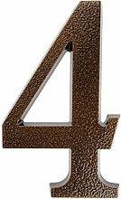 HUBER Hausnummer Nr. 4 Aluminium pulverbeschichtet