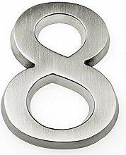 HUBER Hausnummer Nr. 8 Aluminium eloxiert 10 cm,