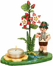 Hubrig Blumenjunge 17 cm Blumenkind Lichterhalter