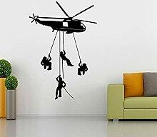 Hubschrauber Chopper Armee WANDAUFKLEBER Aufkleber