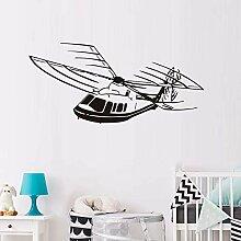 Hubschrauber Flugzeug Kunst Wandaufkleber Kinder