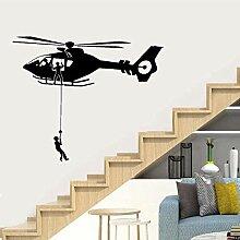 Hubschrauber Wandaufkleber Vinyl abnehmbare