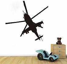 Hubschrauber Wandtattoos Aufkleber Kinderzimmer