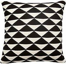 Hübsch Kissen mit Muster / Schwarz-Weiß-Look /