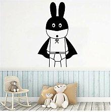 Hübsche Cartoon Kaninchen Wandkunst Aufkleber