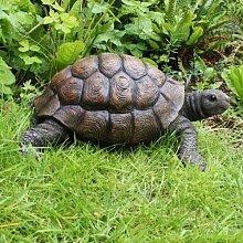 Hübsche Große Realistische Schildkröte, Garten Deko aus Kunstharz