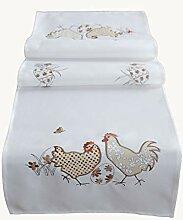 hübsche Tischdecke 110x110 cm OSTERN Weiß