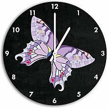 Hübscher Schmetterling Schwarz, Wanduhr