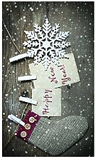 Huella Deco Christmas Teppich Carpet Mat Floor,