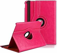 Hülle für iPad mini4,elecfan® Deluxe 360 ° PU Imitation Leather Tasche Multi Angle Stand Schutzhülle Case mit Smart Cover Auto Sleep Wake up für Apple iPad Mini 4 (iPad Mini 4, Rosa)