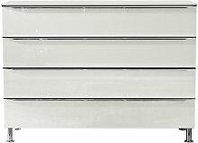 hülsta KOMMODE Weiß , Metall, 120x87.6x40.4 cm