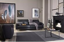 hülsta sofa 2-Sitzer hs.450, Fußgestell Chrom