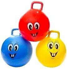 Hüpfball Gesicht Ø 46cm verschiedene Farben–Qualität coolminiprix®