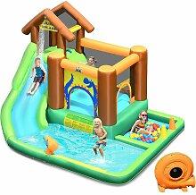 Hüpfburg mit Geblaese, Wasserrutsche Spielpool
