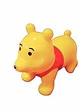 Hüpftier Bär aufblasbar inkl. Pumpe für Kinder