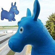 Hüpftier Hüpfesel Hüpfpferd Esel Pferd Hüpfball für kinder in blau (Esel-B)