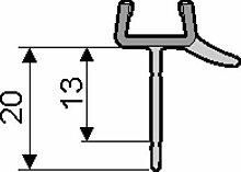 Hüppe Dichtleiste 8 mm Ablaufleiste Dichtung für