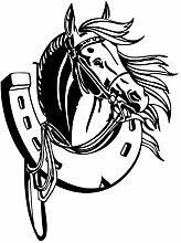 Hufeisen Pferdekopf Wandaufkleber Kinder