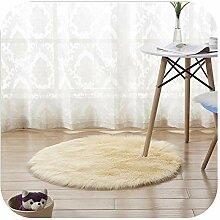 Huge Pelz-Wolldecke Circular Fluffy Teppiche