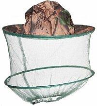 HugeStore Camouflage Imker Hut Bienenzucht Gesichtsmaske Moskito Kopfnetz Kopfschutz Insektenschutz Mückenschutz Khaki