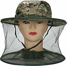 HugeStore Camouflage Imker Hut Bienenzucht Gesichtsmaske Moskito Kopfnetz Kopfschutz Insektenschutz Mückenschutz # 1