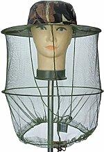 HugeStore Camouflage Muster Imker Hut Bienenzucht Gesichtsmaske Moskito-Kopfnetz Kopfnetz Kopfschutz Insektenschutz Mückenschutz Grün