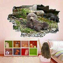 HUGF Wandtattoo Baby Bärenjunges 3D Wandkunst