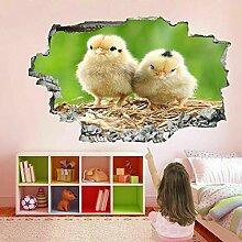 HUGF Wandtattoo Baby Huhn Wandkunst Aufkleber