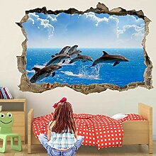 HUGF Wandtattoo Delphin Wandkunst Aufkleber