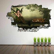 HUGF Wandtattoo Fawn Forest Wandkunst Aufkleber