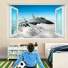 HUGF Wandtattoo Jet Airplane Wandkunst Aufkleber