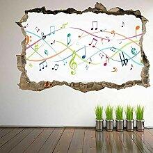 HUGF Wandtattoo Musiksymbol Farbnotizen Wandkunst
