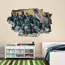 HUGF Wandtattoo Pigeon Wandkunst Aufkleber