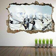 HUGF Wandtattoo Roboter Armee Wandkunst Aufkleber