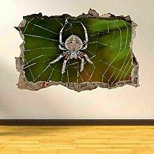 HUGF Wandtattoo Spinnennetz Wandkunst Aufkleber