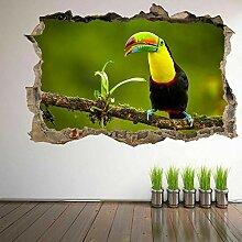 HUGF Wandtattoo Vogel 3D Wandkunst Aufkleber
