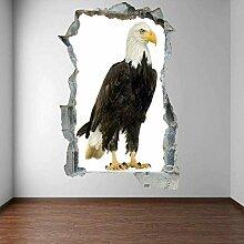 HUGF Wandtattoo Weißkopfseeadler Vogel Wandkunst