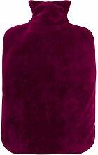 Hugo Frosch Öko-Wärmflasche Nickibezug purpur