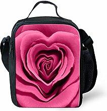 HUGSIDEA Fashion Flower Rose Pattern Thermal Lunch