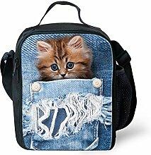 hugsidea Fashion Pet Hund Print Lunchpaket Kinder