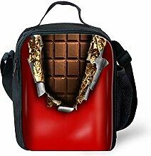 HUGSIDEA Sugary Chocolate Design Printed Red