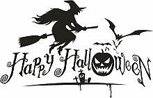 HUICI Halloween Gothic Deko-Sticker, für Glas,
