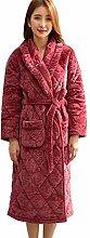 HUIFA Damen-Roben Herbst Und Winter Warm Lang Plus