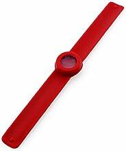 Huihong Mückenschutz Armband Patch, sichere wasserdichte Spirale Armband Insektenschutz, kalte Katalysator Mücken Killer (Rot)