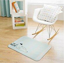 Huihong Türmatten, Cartoon Matten Wohnzimmer Schlafzimmer Badezimmer Tür Schiebetür Fußmatte Fußmatte, C, 60 X 90 Cm.