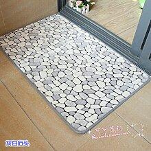 Huihong Türmatten, Gedruckt Matte Schlafzimmer Badezimmer Tür Matten Matten Tabelle Bettvorleger Anti-Rutsch-Matte, M, 50 X 80 Cm
