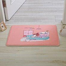 Huihong Türmatten, Mode Mädchen Schlafzimmer Küche Wohnzimmer Schlafzimmer Tür Pad Anti-Slip Matte, C, 40 X 60 Cm